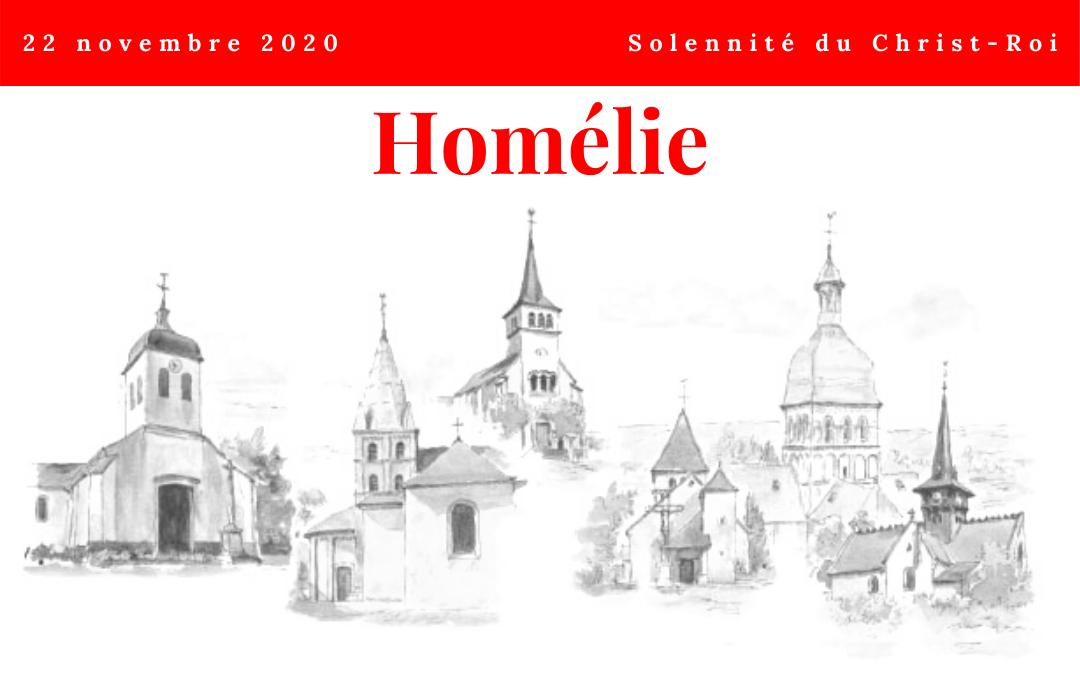 L'homélie du 22 novembre