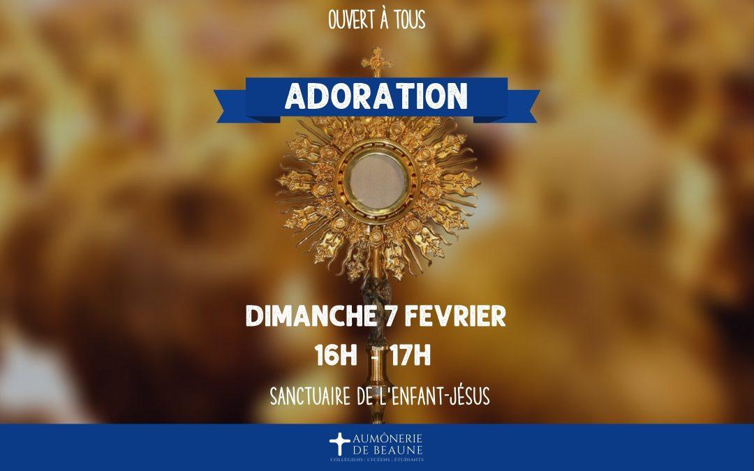 Adoration au Sanctuaire
